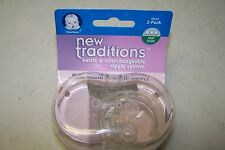 GERBER NEW TRADITIONS Wide Mouth Classic NIPPLE 2-PACK Fast Flow Interchangeabl