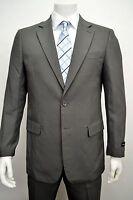 Men's Gray 2 Button Classic Fit Polyester Suit Size 42l