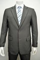 Men's Gray 2 Button Classic Fit Polyester Suit Size 42l