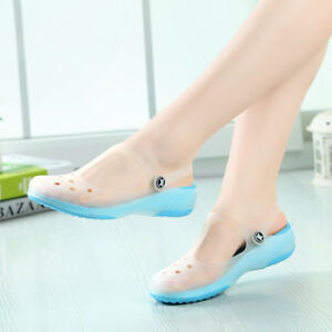 e4c533b61b65 New Womens Sandals Color Change Candy Shoes Summer Croc Beach Shoes ...