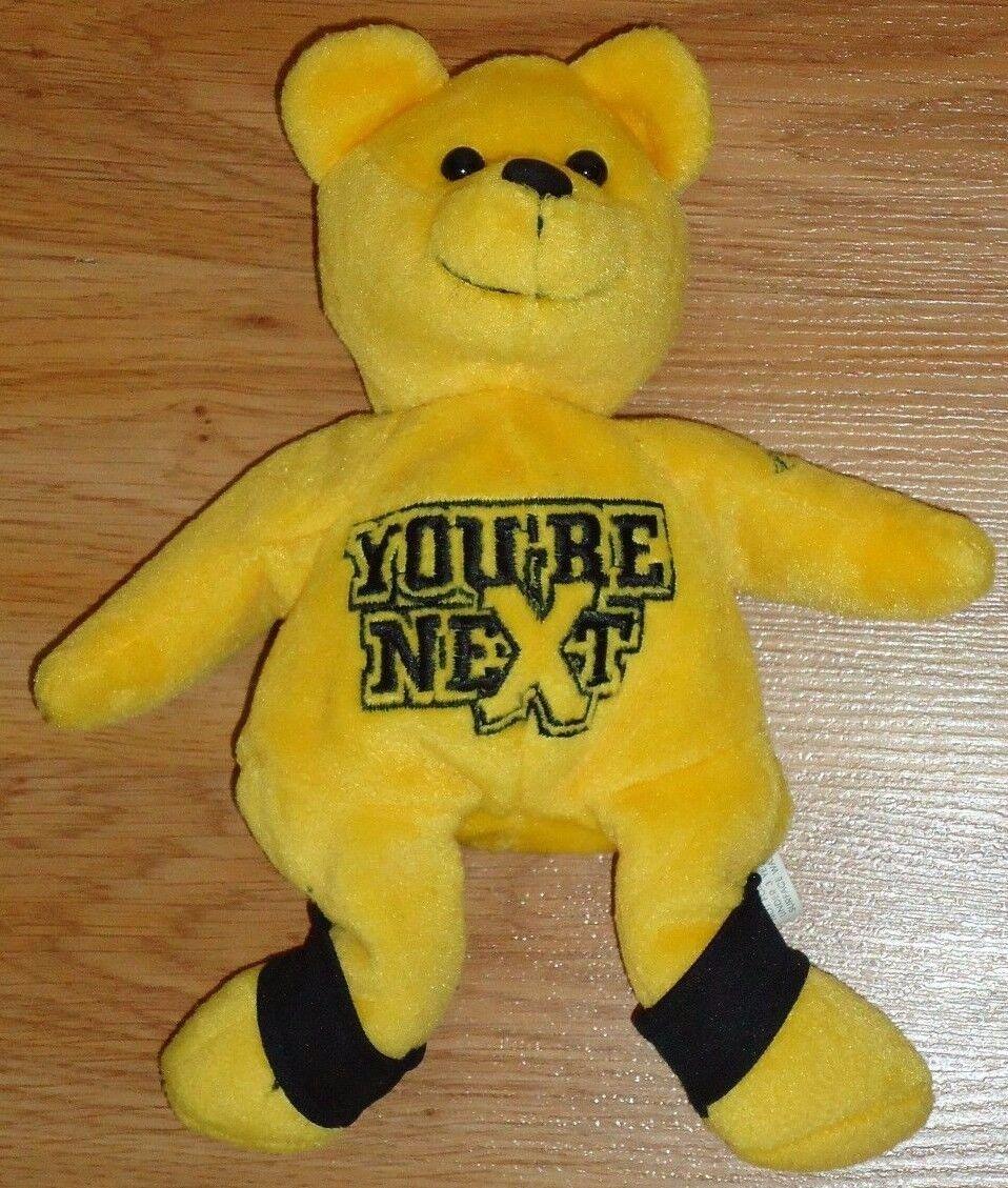 World GOLDBERG Championship Wrestling GOLDBERG World YOU'RE NEXT beanbag plush Yellow Bear 8