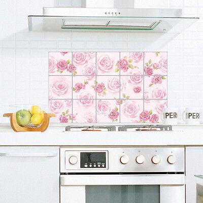 Contact Tiles Self Adhesive Wallpaper Kitchen Backsplash Aluminum Paper Sheets