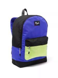 Blauw Nwt Victorias Zwart Backpack Secret Colorblock Groen Pink Schooltas A5L3qcR4j