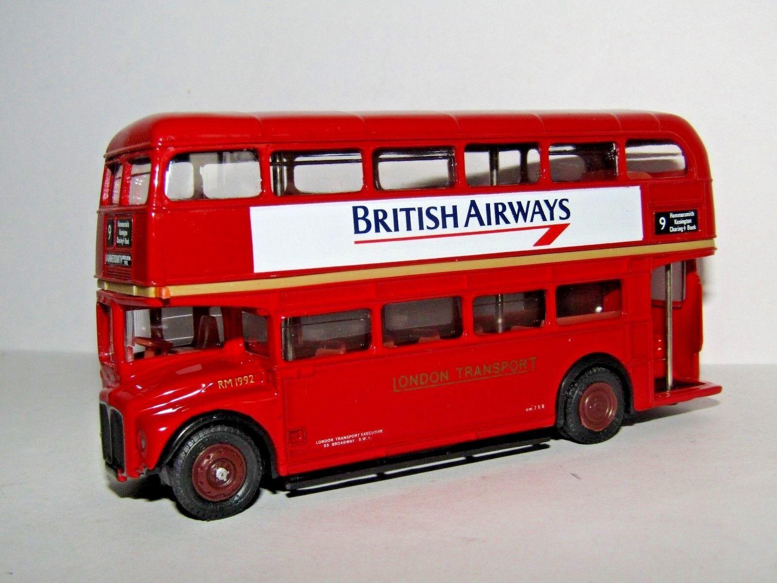 EFE AEC ROUTEMASTER BUS LONDON TRANSPORT BRITISH AIRWAYS ROUTE 9 1 76 15610A