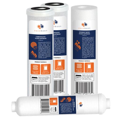 Osmose inverse Filtre de rechange Set: CARBONE noix de coco Inline Sédiments