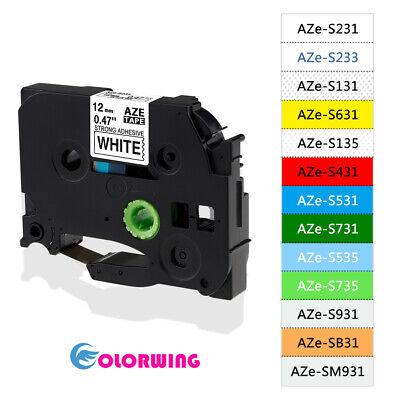 Brother TZFX231 1//2 Flexible cable TZ label tape PT1290RS PTH100 PTH300 PTH300LI