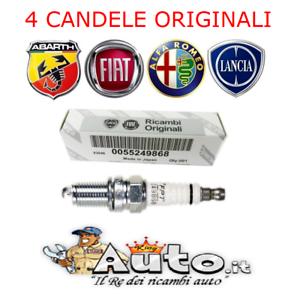 KIT 4 CANDELE ORIGINALI FIAT PUNTO EVO 500L 500X TIPO 1.4 55249868 = NGK IKR9J8