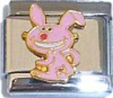 Italian Charm Pink Happy Bunny Rabbit Cartoon Attitude