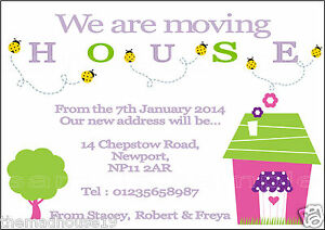 Personalised Change Of Address Moving House Announcement Cards