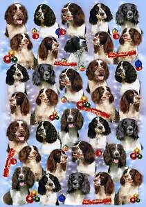 English-Springer-Spaniel-Dog-Christmas-Wrapping-Paper-By-Starprint