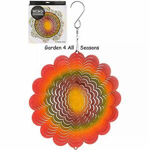 6-034-15cm-SUNFLOWER-Stainless-Steel-Wind-Spinner-Sun-Catcher-Hook-Garden-Gift-Pack