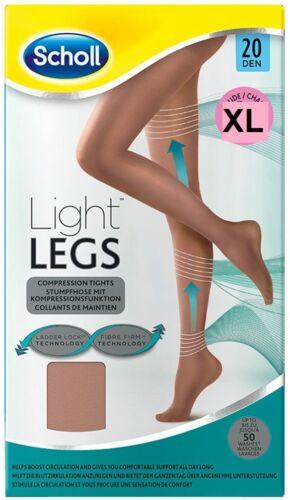 Scholl jambes légères Compression Collants 20den couleur chair taille XL XLARGE ** UK stock **