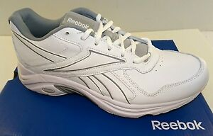 fe96a270ec5 REEBOK DMX Max Mania Men s Leather Walking Shoes White 7.5-13M NEW ...