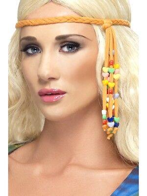 1960s Hippie Fascia Donna 60s Hippy Accessorio Vestito Perline Trecce
