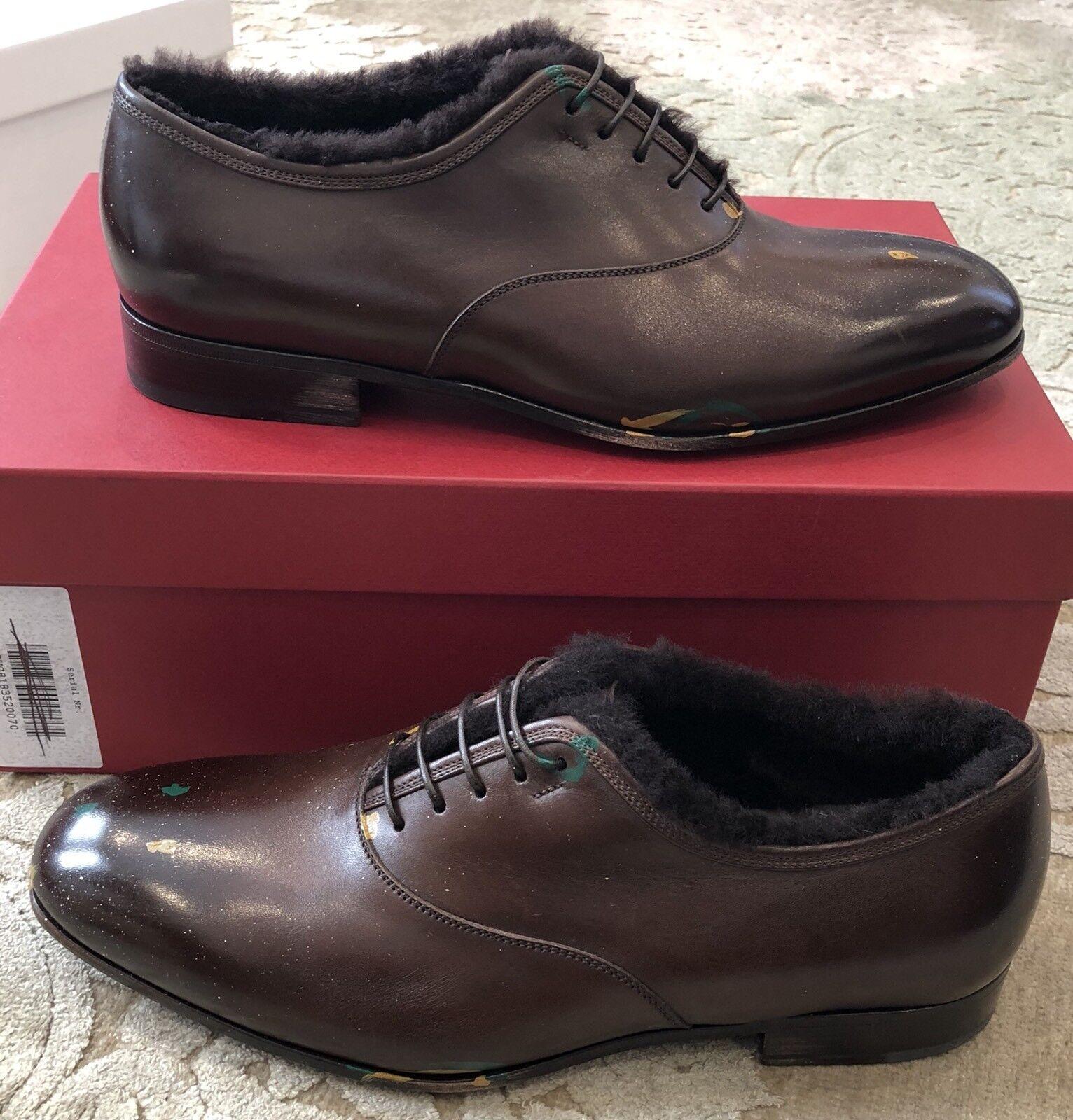 93b033803ceb 750 750 750 New Salvatore Ferragamo Mens shoes Brown Distressed Paint Size  8 US 7 UK ...