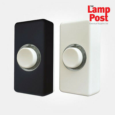 Eterna Door Bell Push Interchangeable Switches Wired with White /& Black Covers