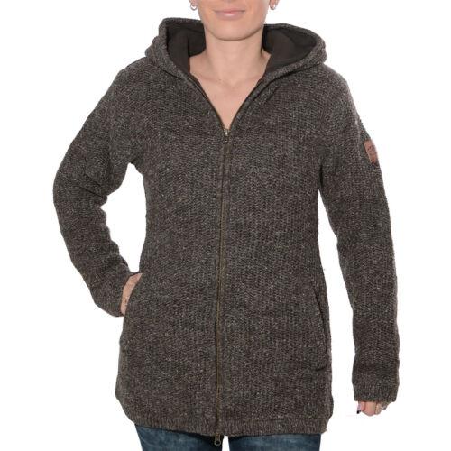 Lined Kunst Hood Women's Jacket Magie Knit Wool Fleece Classic Und q8wSrxqA