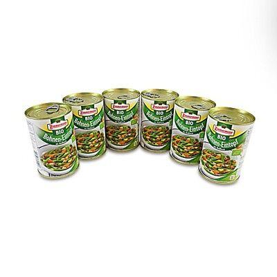 (8,54€/1l) BIO Bohnen-Eintopf mit Rindfleisch 6er Pack (6 Dosen à 400 ml)