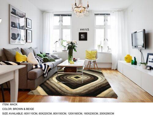 Beautiful Modern Designs Super Soft Mack Shaggy Rugs Small-Large