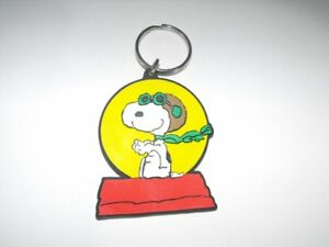 Ace Snoopy Peanuts Flat Plastic Key Chain Keychain