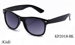 Kids-Sunglasses-Black-Frame-Classic-Retro-Eyewear-Boys-Girls-Lead-Free-UV-100