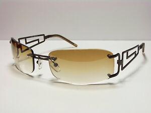 Top-Moderne-Herren-Damen-Sonnenbrille-Sunglasses-UV400-M3-Verlauf-Braun-NEU