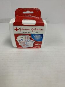 Johnson & Johnson Red Cross First Aid-to-Go Mini First Aid Kit 12 Piece Kit