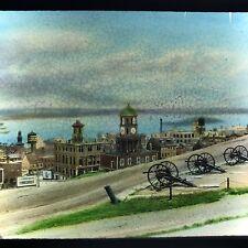 Vtg Magic Lantern Glass Slide Photo Nova Scotia 1920s Cannons Paper Mill Town
