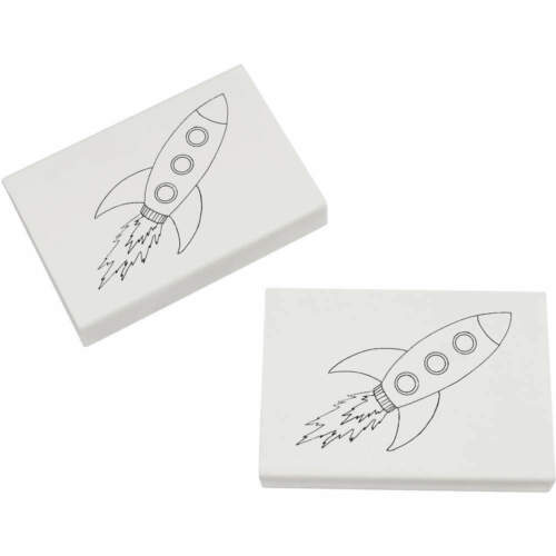 2 x 45mm /'Space Rocket/' Erasers ER00015746 Rubbers