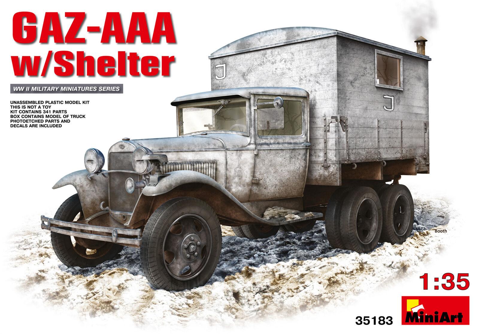 ordene ahora los precios más bajos Gaz - Aaa W Box Body Body Body Miniart 1 35 Kit MIN35183  estilo clásico