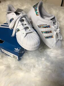 Details about Mens ADIDAS SUPERSTAR Ortholite Athletic Shoes Size 6.5 Metallic Stripes