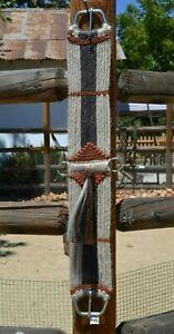 100-Mohair-Vaquero-Style-16-Strand-Cinch-w-Shu-Fly-Natural-Grey-Rust-32-034