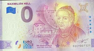 BILLET 0  EURO MAXIMILIAN HELL SLOVAQUIE  2020 NUMERO DIVERS