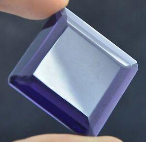 69-61ct-Violet-Amethyst-Carre-Emerald-Cut-VVS-COA-Excellent-for-pendant