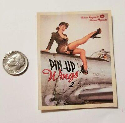 "1 Miniature Playscale Gi Joe Pin up Girl Poster 3/"" Military  World War Marilyn"