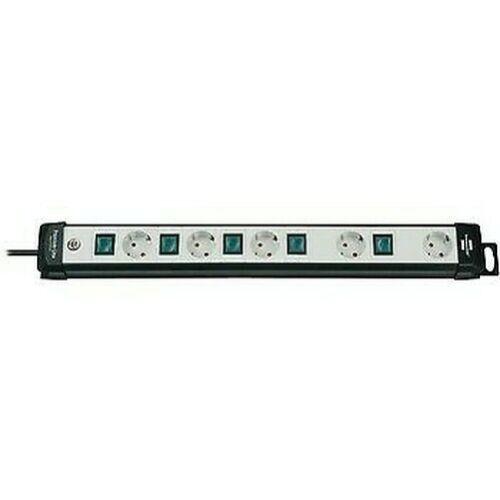 Verlängerung A 1 Platz Premium-Line 5x H05VV-F 3G1,5 Schwarz // Grau