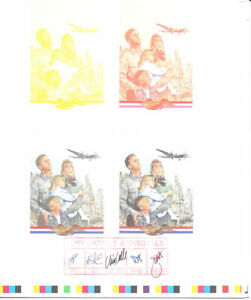 #3211 Berlin Airlift Cachet for First Day Cover Souvenir Six Page Fold Out