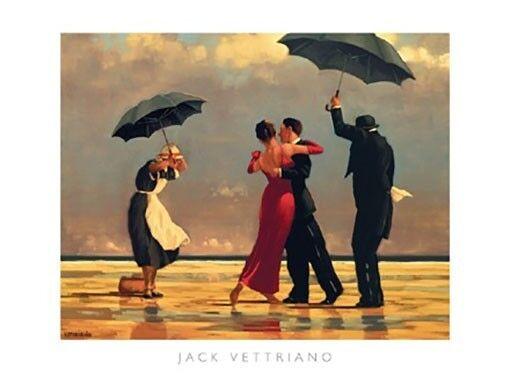 Tango Dancers by Jack Vettriano Framed /& Mounted Art Print Grey