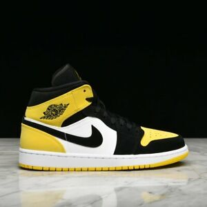 Details zu Air Jordan Retro I 1 Mid Yellow Toe AR1020-700 size 7.5-10