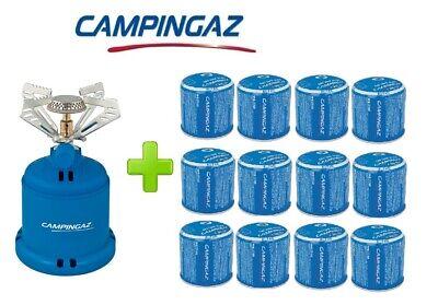 Espressive Fornello Fornellino Gas Camping Stove 206 S 1230 W Campingaz + 12 Cartucce C206