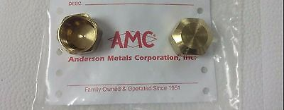 """COMPRESSION CAP, (1) ONE NUT, BRASS, FOR 3/8"""" O.D. TUBING, PART#00081-06"""
