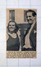 1949 Dutch Girl Channel Swimmer Willi Croes Van Rijsel And Fernand De Moulin