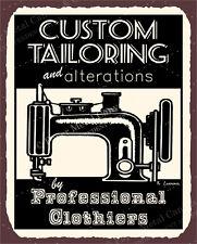 (VMA-L-6621) Custom Tailor Vintage Metal Art Sewing Clothing Retro Tin Sign