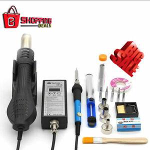 Portable Soldering Station Hot Air Gun Heat Handle Blower 8858 Rework Solder Set