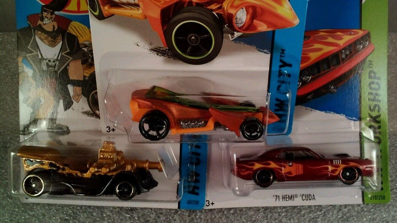 autorización 3 Hot Wheels Coches De Fundición Fundición Fundición Nueva rezando menance, grasa Varilla 71 Hemi Cuda  los últimos modelos