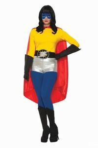 Red ADULT Unisex Superhero Cape One Size Costume Accessory NEW Mens Womens