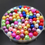 Wholesale Lots Glass Pearl Round Spacer Loose Beads 4mm//6mm//8mm