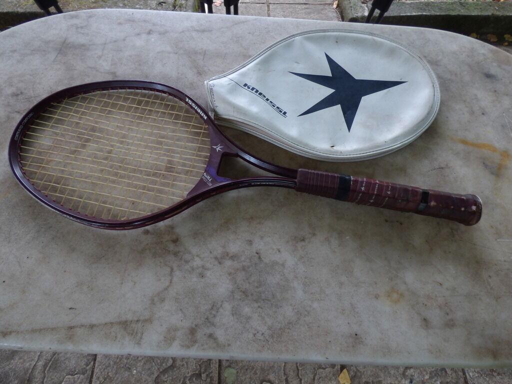 Tennisschläger vintage Kneissl rot Star Twin mit mit mit Bezug 43146e