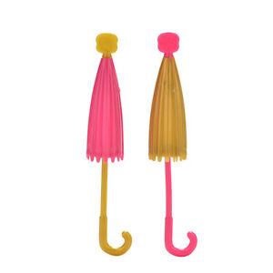 2-Pcs-lot-Doll-Accessories-Handmade-Doll-039-s-Plastic-Umbrella-For-Dol-CWC