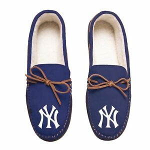 MLB-New-York-Yankees-Men-039-s-Colored-Moccasin-Hard-Slippers-New